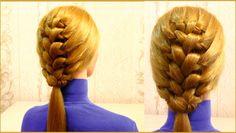 Прическа в школу на средние волосы. Плетение косичек. Girls hairstyle fo...