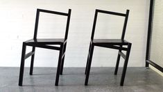 """Rasmus B. Fex - Chair """" Despite the fact that designer Rasmus B. Fex's chair looks like it's about to tip over, it's actually extraordinarily stable thanks to some clever engineering and. Cool Furniture, Modern Furniture, Furniture Design, Dream Furniture, Take A Seat, Kitchen Interior, Chair Design, Decoration, Family Room"""
