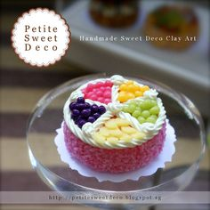 Miniature Fresh Fruit Strawberry Cream Cake by PetiteSweetDeco, $12.50