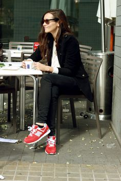 New Balance Red Trainers Womens