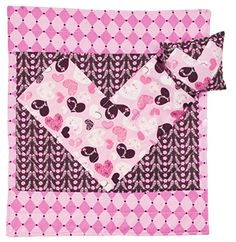 Sweetheart Doll Quilt and Pillow Tuck your little girl and her favorite stuffed animal or doll in with this adorable small blanket and pillow! #sewing #crafting #easy #beginner #DIY