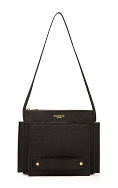Shop Small Folder Leather Bag by Thom Browne Now Available on Moda Operandi