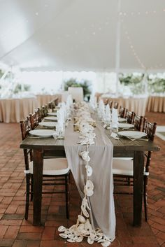 Oyster shell table runner garland  Rustic Oyster Themed Eastern Shore Maryland Outdoor Wedding by East Made Event Company Wedding Planner and Bekah Kay Creative515.jpg