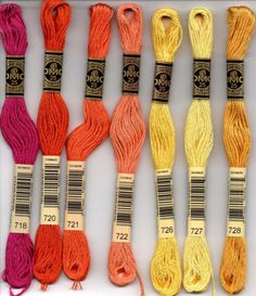 DMC embroidery floss - 700 series Embroidery Boutique, Embroidery Shop, Dmc Embroidery Floss, Learn Embroidery, Silk Ribbon Embroidery, Embroidery For Beginners, Embroidery Techniques, Cross Stitch Embroidery, Embroidery Patterns