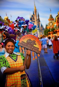 Attend Mickey's Not So Scary Halloween Party (in costume)