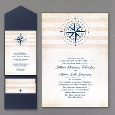 Destination Love Invitation 40% Off http://mediaplus.carlsoncraft.com/3148-KEN22438-Destination-Love-Invitation.pro KEN22438 A nautical theme is featured on this card which fits into a pocket.