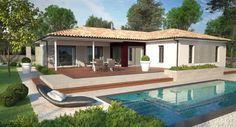 maison Genus | IGC Construction Bungalow, House Plans, Mansions, House Styles, Outdoor Decor, Home Decor, Diana, Parents, Swiming Pool