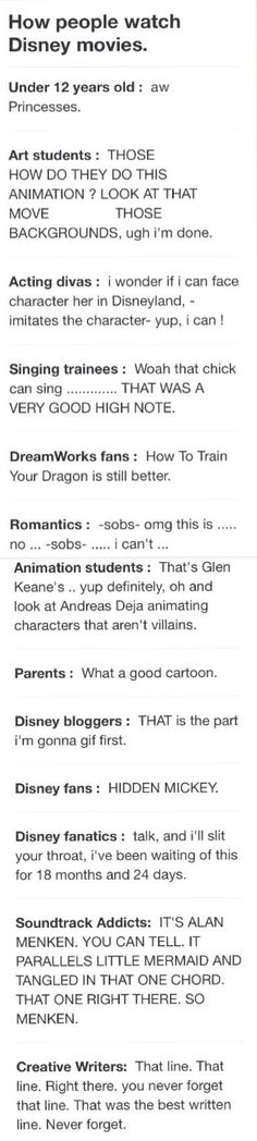 I'm fairly certain I am all except the Dreamworks one....