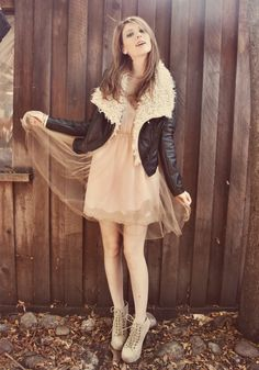 Blush Mesh Tulle with aviator jacket. You know you look good! Tulle Bows, Tulle Dress, Target Dresses, The Blushed Nudes, Trends, Dress With Bow, Coat Dress, Wholesale Fashion, Autumn Fashion