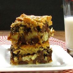 Chocolate Chip Turtle Cookie Bars recipe