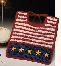 4th of JULY/Patriotic Baby Bib/Crochet Pattern Instructions