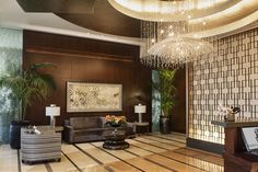 The Ritz remains downtown's most expensive—and most available—luxury residential tower. 'There are only about 63 new condos currently on the market downtown,' adds Mr. Mark. 'Almost all of those are at the Ritz.' Shown here is the lobby in the Ritz-Carlton Residences.
