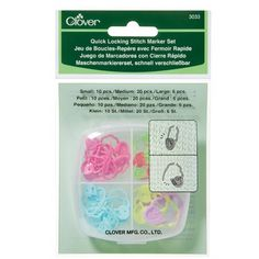 Check out Clover Quick Locking Stitch Marker Set at WEBS | Yarn.com.