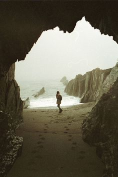 Cave by the sea.