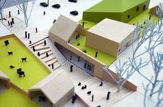 © & WWAA - cultural centre - warsaw, poland - 2008 - Ashley Home Cultural Architecture, School Architecture, Modern Architecture, Museum Architecture, Architecture Graphics, Landscape Model, Urban Landscape, Landscape Design, Architecture Concept Drawings