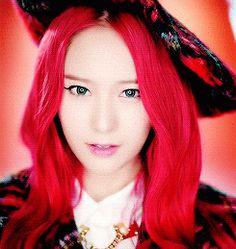 Krystal Jung Red Hair f(x) Rum Pum Pum Pum MV GIF