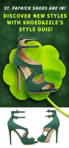 The Perfect St Patrick's Day Shoes Just Arrived! Cutouts, Delicate Ankle Straps, and an Inset Comfort Pad make this Dress Sandal by Signature Flirtatious and Perfect for Date Nights and Happy Hours. Discover These Trendy Shoes Named Ayemeline Along With Other Styles with ShoeDazzle's Style Quiz!