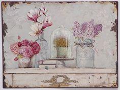 Blechschild Flowers vintage dekowonderland http://www.amazon.de/dp/B00O49ITVA/ref=cm_sw_r_pi_dp_oW7Qub0MR5XD7