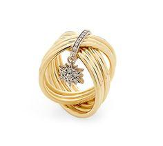 Anel de ouro amarelo e Ouro Nobre 18K com diamantes cognac Link:http://www.hstern.com.br/joias/p-produto/A2B205189/anel/perolas-do-genesis/anel-de-ouro-amarelo-e-ouro-nobre-18k-com-diamantes-cognac
