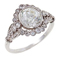 Edwardian Diamond Platinum  Ring | 1stdibs.com