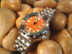 Seiko Orange monster with watchadoo bracelet...