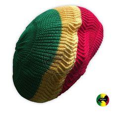 24ccd3c885c Rasta Dread Dreadlocks Tams Hat Beret Hippie Cap Reggae Marley Jamaica M L  Fit. Hats For MenRed ...