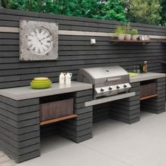 Fantastic Free of Charge outdoor kitchen black Thoughts Backyard kitchen design is highly profitable within your house layout industry. As outlined by a study made in. Outdoor Bbq Kitchen, Outdoor Kitchen Countertops, Backyard Kitchen, Outdoor Kitchen Design, Backyard Bbq, Kitchen Decor, Outdoor Kitchens, Kitchen Ideas, Outdoor Barbeque Area