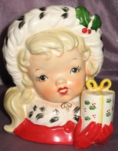 Napco Christmas Vase Planter Japan 1956 | eBay