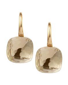 Nudo 18k Gold Colorless Topaz Earrings - Pomellato