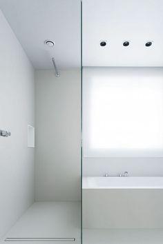 Vola BK3 bath mixer and Vola shower, available via inoxtaps.com # architect: Studio Niels™: Private House Lanaken