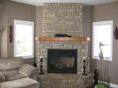 The homeowners have also enjoyed decorating and adding the finishing touches to their new cultured-stone fireplace. Description from rickminnings.wordpress.com. I searched for this on bing.com/images