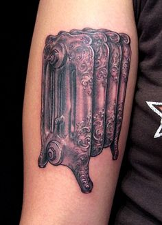 """""""Chicago Radiator"""" tattoo by Butterfat Tattoo (Esther Garcia) Maybe it sounds crazy, but I am in love with this. The sounds of the radiator remind me of different times..."""