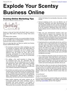 Explode Your Scentsy Business Online