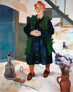 Neş'e Erdok, Zülfiye Hanımın Portresi, 146x114 cm, 1995, Tuval üzerine yağlıboya / Oil on canvas Drawing People, Figurative Art, Istanbul, Contemporary, Country, Abstract, Drawings, Artist, Painting