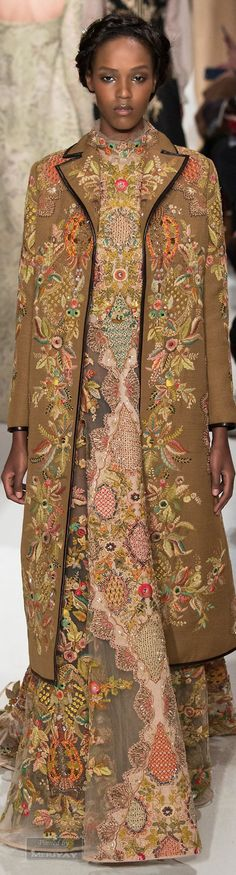 Valentino.Spring 2015 Couture--Gorgeous! Nice to see the return of beautiful, feminine embroidery. Wouldn't you love to have a blazer decorated in this way?