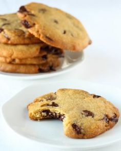 no Chocolate Chip Cookies, Chocolate Chips, Biscotti, Goodies, Baking, Sweet, Desserts, Pastries, Food