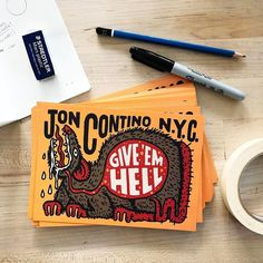 Available now! All apparel and artwork orders from @joncontino_newyork now come with a free mini print! Get em at jc-nyc.com!!! Stefan Sagmeister, Print Magazine, Visual Communication, Art Logo, Typography Design, Hand Lettering, Cool Art, Cool Designs, Illustration Art