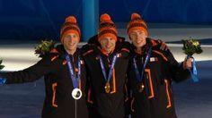 Koninklijke huldiging Oranje-trio