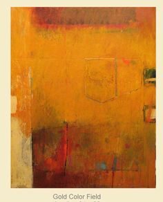 abstract with golds, orange and a little blue