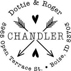 Chandler Arrow Hearts Address Stamp