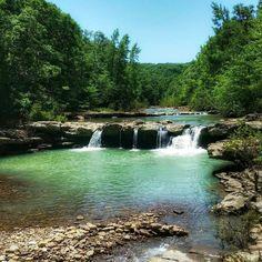 Kings River Falls-swim in a waterfall in Witter Arkansas. #explorearkansas #swimmingholes
