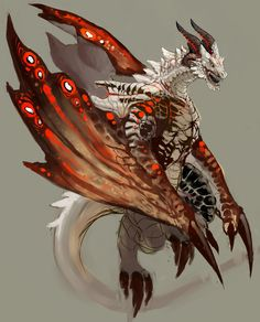 Fist submission here. A Wyvern concept and the work in progress for it. I might add more dragon concept in the future.