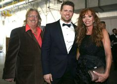 Mike Mizanin (The Miz) with his parents at the 2015 WWE Hall of Fame Ceremony