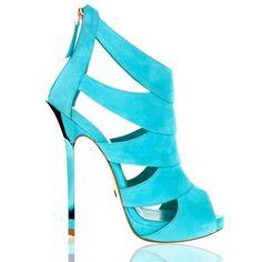 Doukas Chatzidoukas amazing Greek designer for shoes & accessories! Hot High Heels, Platform High Heels, Sexy Heels, Hot Shoes, Blue Shoes, Shoes Heels, Saddle Shoes, Shoe Boots, Shoes World