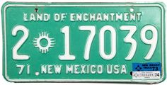 1974 New Mexico Truck License Plate
