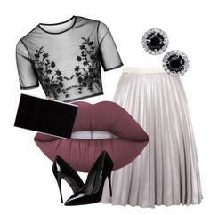 """""""Prom2016#3"""" by elina-bartsevich on Polyvore featuring мода, Antipodium, Lime Crime, Topshop, Dolce&Gabbana и Charlotte Olympia"""