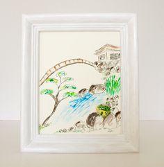 GarZenKunst Steinbild: Frosch im japanischen Garte von Ztone auf DaWanda.com