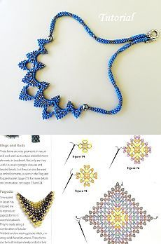 How to make of necklace beads. A necklace from beads of the picture of the scheme Diy Necklace Patterns, Beaded Jewelry Patterns, Beading Patterns, Bead Jewellery, Seed Bead Jewelry, Seed Beads, Seed Bead Tutorials, Beading Tutorials, Bead Crafts