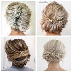 Did you see the video I posted this morning for these 4 short hair updos? check it out if you missed it! Which one is your fave? Top right for me! #hairandmakeupbysteph