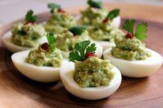 Easy Guacamole Deviled Eggs